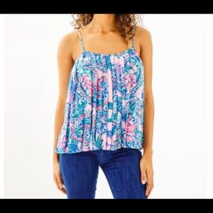Lilly Pulitzer-Rein Pleated Tank Top